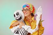 foto of clown rose  - clown play with death studio shot - JPG
