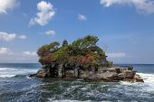 Tanah Lot Water Temple In Bali Island, Indonesia. Outdoor Indonesia Nature Landscape. Tanah Lot Wate poster