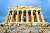 Scenic view of Parthenon Temple, Acropolis, Athens, Greece