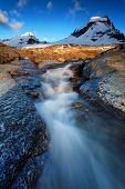 Mountain landscape in Gran Paradiso National Park, Italy
