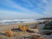 Atlantic Ocean Coastline Landscape Along The Camino De Santiago Portuguese Or Saint James Way In Por poster