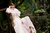 picture of snob  - portrait of a beautiful fashion model wearing an elegant dress - JPG