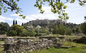 stock photo of socrates  - The great ancient place in Athens where Socrates made his daily walk - JPG