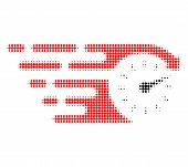 Time Halftone Dotted Icon With Fast Speed Effect. Vector Illustration Of Time Designed For Modern Ab poster