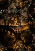 stock photo of dadaism  - Grunge Dark Textured Bridge Abstract - JPG