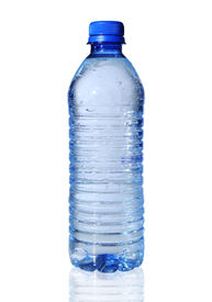 pic of bottle water  - Bottled water isolated over a white background - JPG
