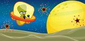 picture of horrific  - illustration of alien in the universe - JPG