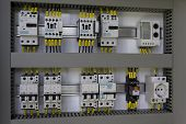 foto of contactor  - Industrial enclosure with electrical equipment - JPG