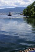 image of penticton  - Old tug boat moored on Lake Okanagan Penticton British Columbia Canada..
