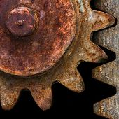 Detail Of Old Rusty Gears Transmission Wheels