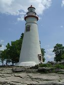 image of marblehead  - Picture of the Marblehead Lighthouse taken in the summer of 2008 - JPG