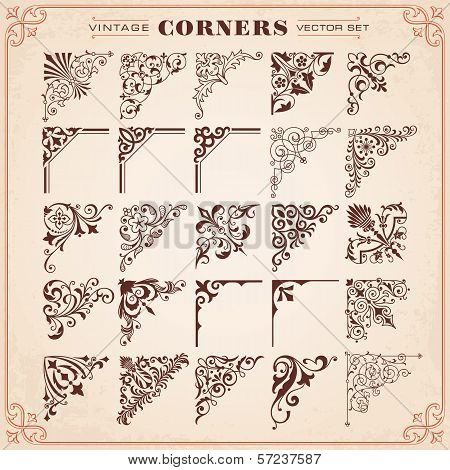 Vintage Design Elements Corners poster