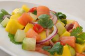 Norwegian Salmon Ceviche With Mango And Coriander