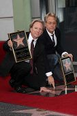 Dewey Bunnell, Gerry Beckley at the America Star on the Walk of Fame Ceremony, Hollywood, CA 02-06-1