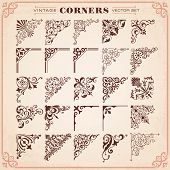 Vintage Design Elements Corners poster