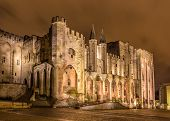 picture of avignon  - Palais des Papes in Avignon a UNESCO heritage site France - JPG