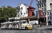 PARIS,FRANCE-AUGUST 21-Moulin Rouge in Paris