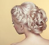 picture of grey-haired  - Beauty wedding hairstyle - JPG