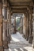 foto of qutub minar  - The qutub minar complex delhi in india - JPG