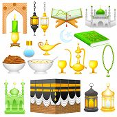 stock photo of eid ka chand mubarak  - easy to edit vector illustration of object for Eid design - JPG