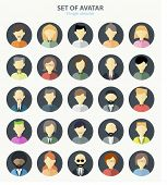 picture of avatar  - Set of avatar flat design icons - JPG