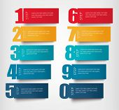 stock photo of origami  - Info graphics banners with numbers and litters - JPG