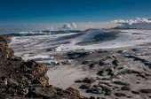 image of kilimanjaro  - Looking down into the crater on Kilimanjaro - JPG