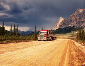 stock photo of backwoods  - Dalton highway on Alaska - JPG