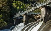 image of hydro  - Water been release out of a New Zealand hydro power dams - JPG