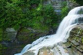 stock photo of lucifer  - Lucifer falls is a beautiful falls that requires a long wilderness hike and I photographed to show to viewers who many never get to see it - JPG