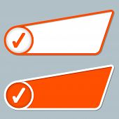 image of text-box  - two orange boxes for any text with check box - JPG