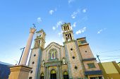 stock photo of guadalupe  - The Catedral de Nuestra Senora de Guadalupe the first catholic church in Tijuana Mexico of the Lady of Guadalupe - JPG