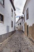 foto of faro  - Old historical street of Faro city in Portugal Europe - JPG