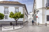 image of faro  - Old town district in historic town Faro South of Portugal - JPG