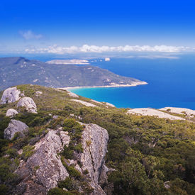 pic of promontory  - Wilsons Promontory the most southerly point on the Australian mainland with clear blue water - JPG