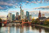 picture of frankfurt am main  - Frankfurt am Maine Germany cityscape at sunrise - JPG