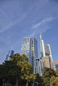pic of frankfurt am main  - Frankfurt am Maine Germany skyscrapers on a sunny day - JPG