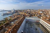 foto of piazza  - beautiful view from a top St Mark Campanile  - JPG