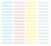 foto of chevron  - Zig zag chevron vector pattern set - JPG