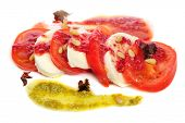 foto of antipasto  - Caprese antipasto salad with mozarella cheese - JPG