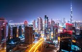 picture of dubai  - Beautiful night city - JPG