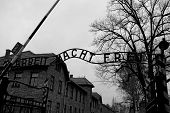 picture of auschwitz  - Authentic gate to Auschwitz concentration camp in Poland - JPG