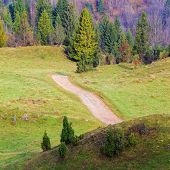 image of pieniny  - autumn mountain landscape - JPG