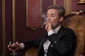 picture of cigar  - Half - JPG