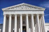 stock photo of supreme court  - White US Supreme Court Capitol Hill Washington DC - JPG