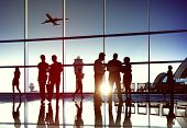 picture of air transport  - Airport Airplane Air Transportation Business Travel Concept - JPG