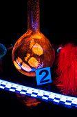 stock photo of dna fingerprinting  - True fluorescence fingerprint with ruler and number - JPG