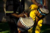 pic of reggae  - African musician playing the drums - JPG