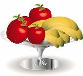 image of fruit bowl  - Still life of fruit  - JPG