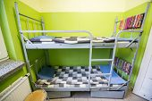 image of polonia  - bunk bed in the cell of polish prison - JPG